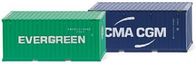 20' Container. (NG) Evergreen & CMA-CGM