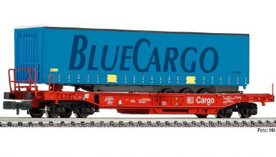 Containervagn Blue Cargo N-skala